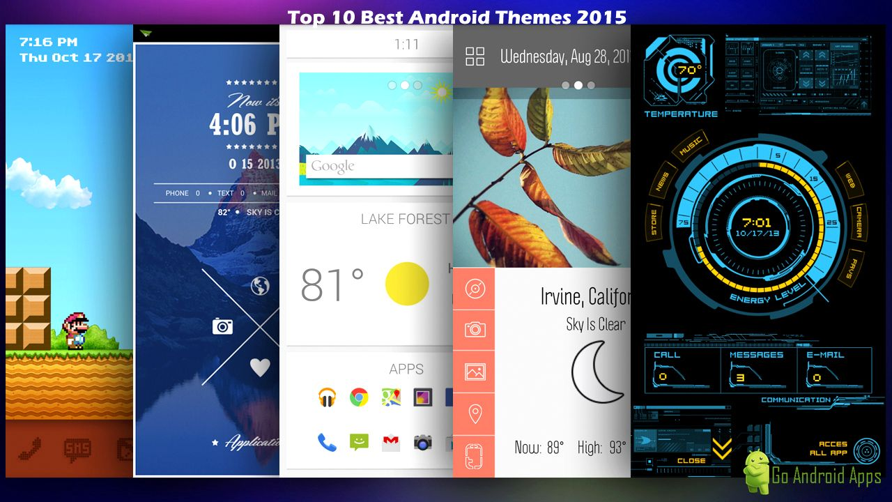 free android application top 10 best android themes 2015 22175