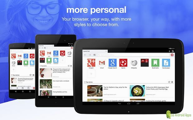 Opera mini web mobile browser