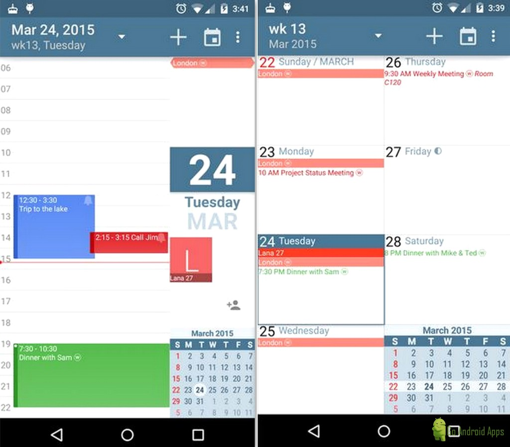 how to add calendar in android app