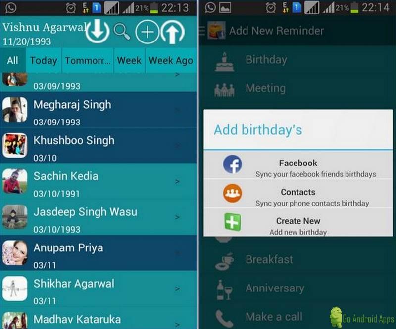 Birthday Calendar App