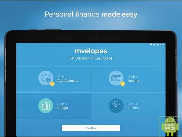 Mvelopes Personal Finance App