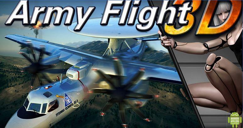 3D Army plane flight simulator game
