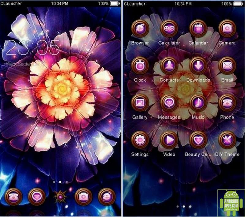 Amazing Flower Bloom Theme App