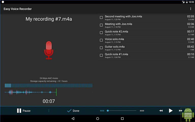 Easy Voice Recorder App