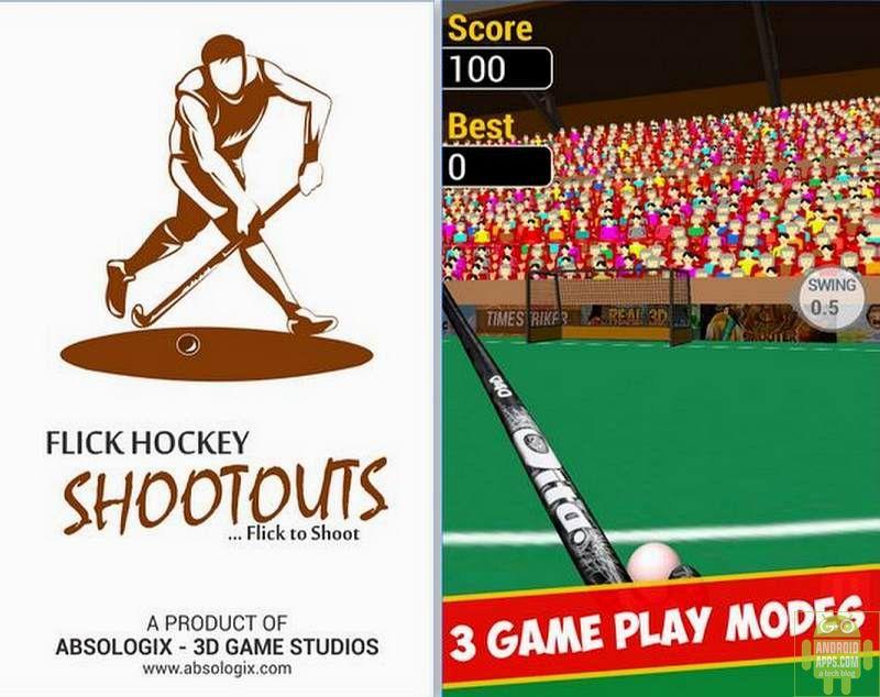 Flick Hockey Shootouts 3D Game
