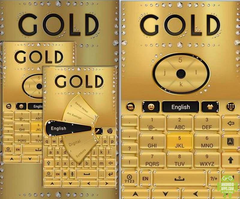 gold go keyboard theme app