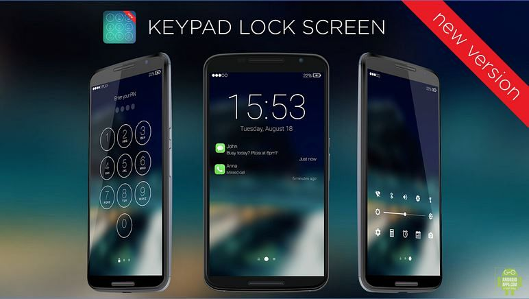 Keypad Lock Screen New Version