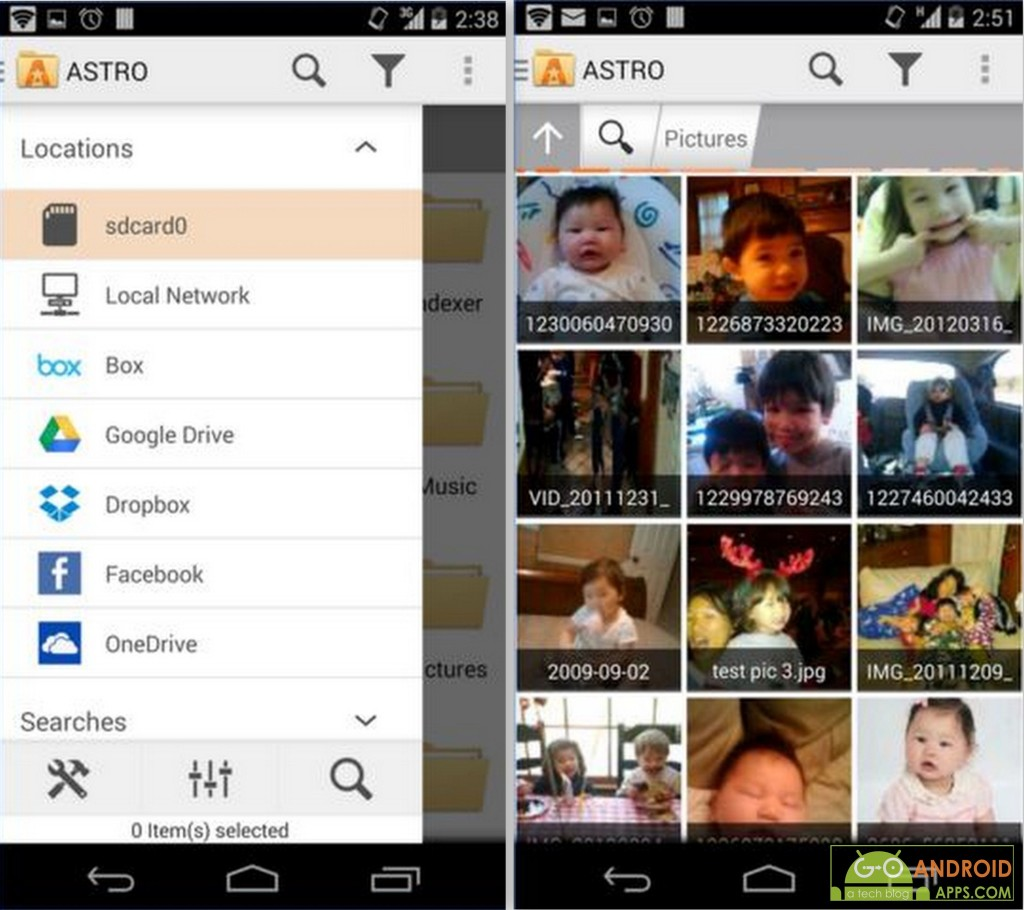 ASTRO File Manager with Cloud App