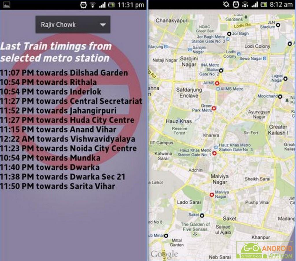 Delhi Metro Guide App