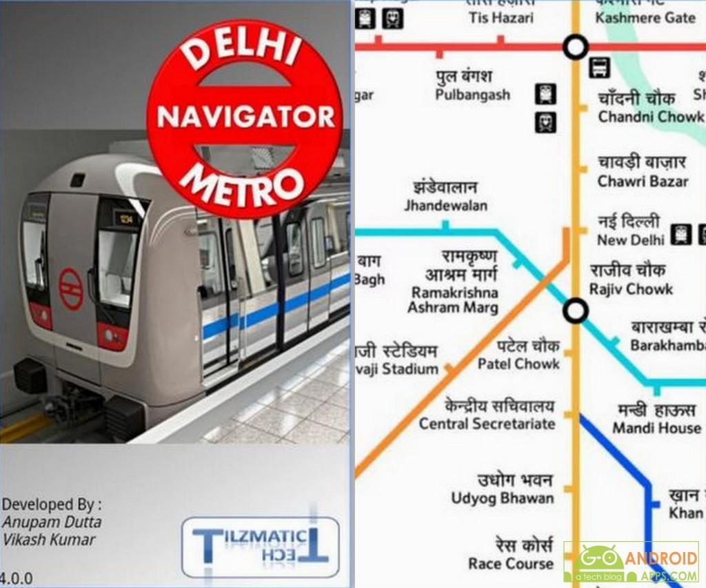 Delhi Metro Navigator App