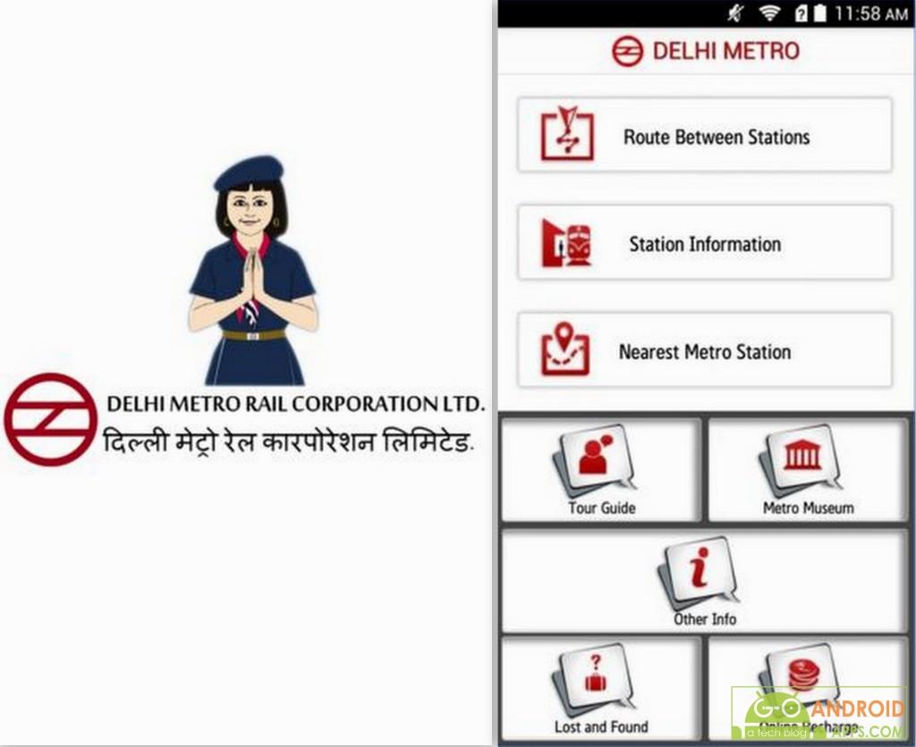 Delhi Metro Rail App