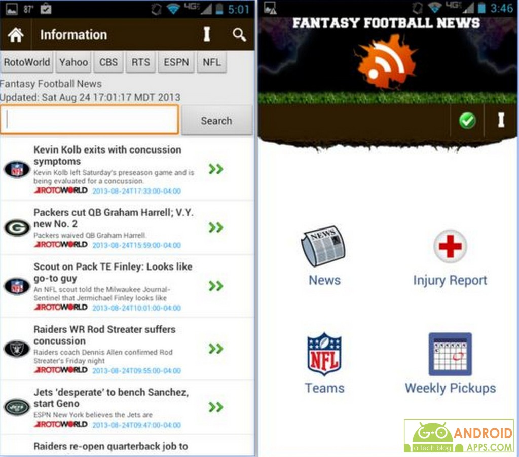 Fantasy Football News IS App