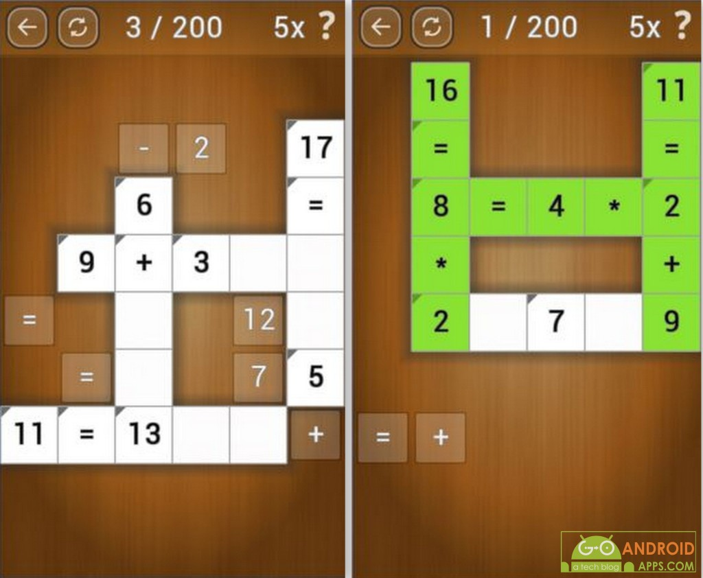 Math Pieces Game