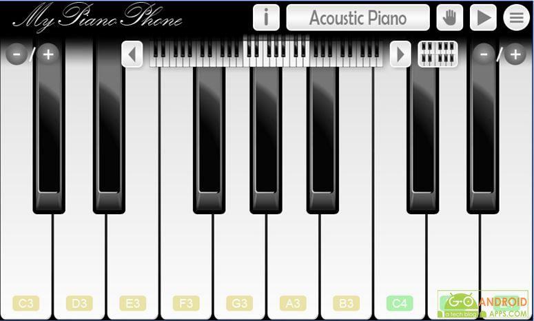 My Piano Phone App
