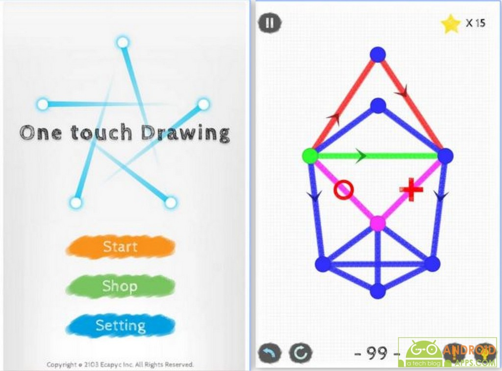 One touch Drawing Game