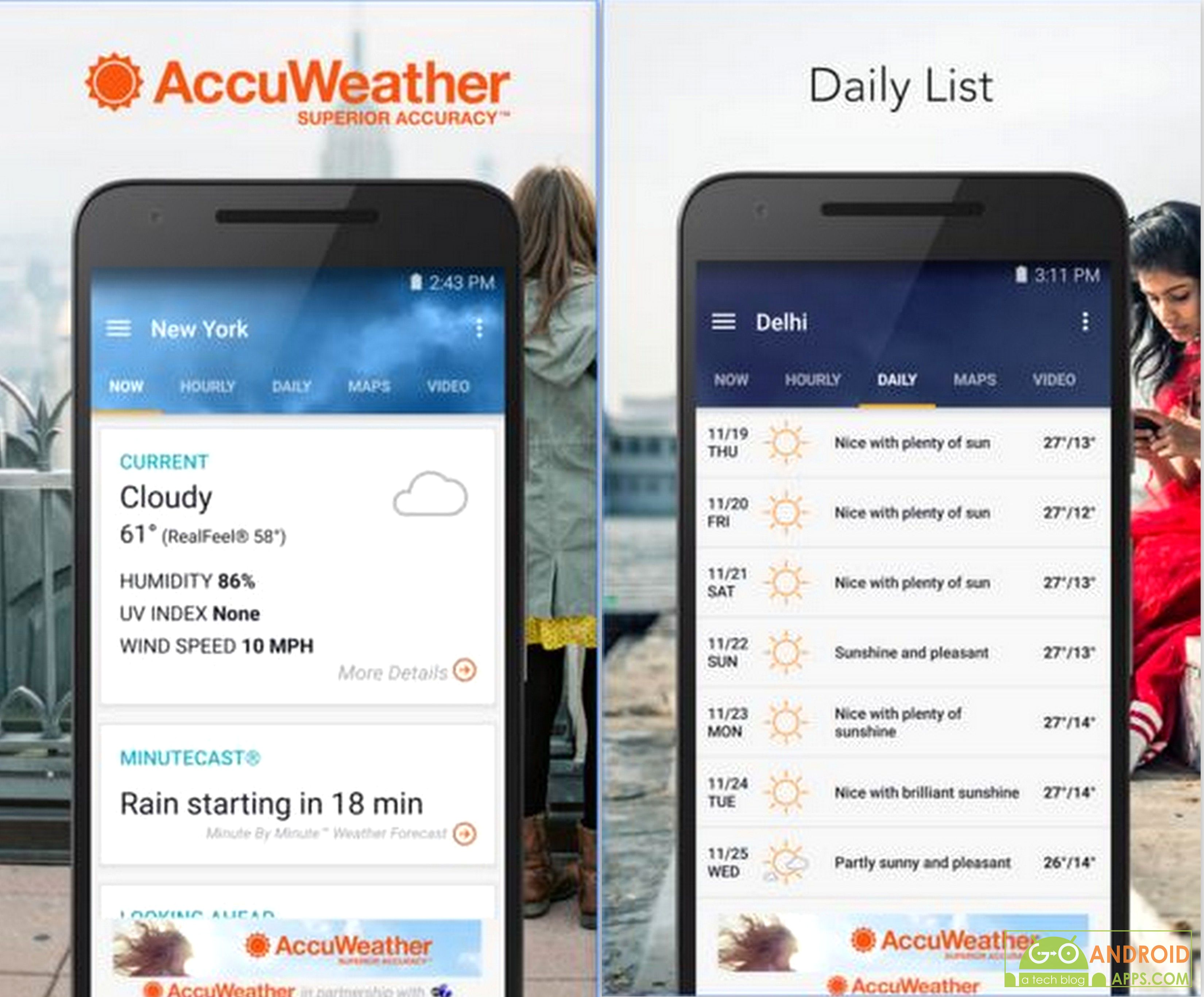 Top 6 Best Android Weather Widget App (2018)