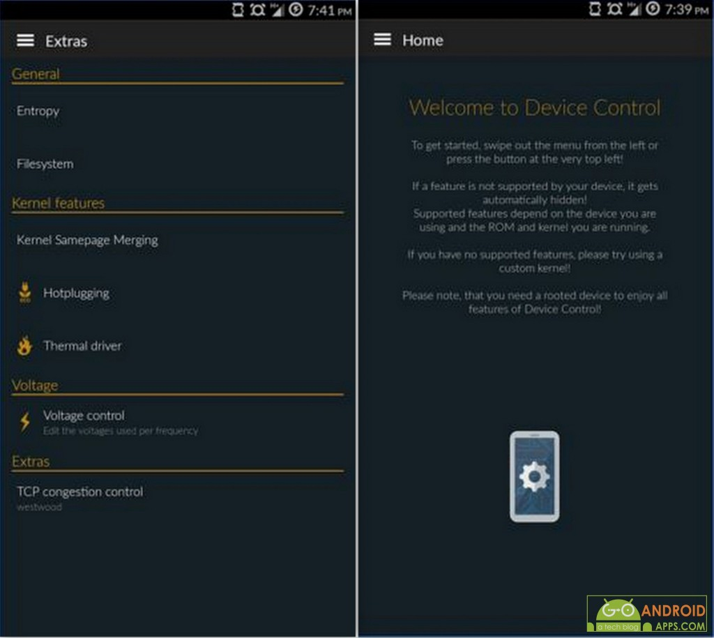 Device Control [root] App