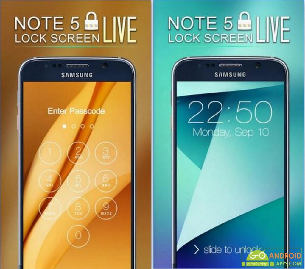Lock Screen Note 5 Theme App