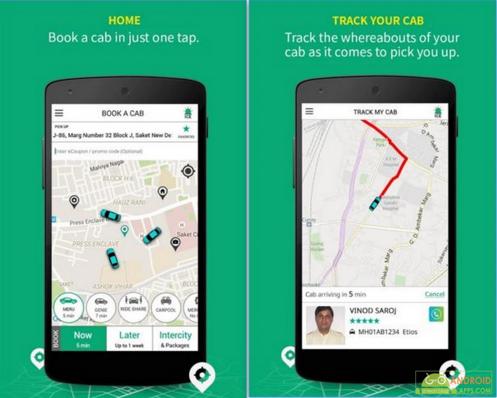 Meru Cabs Taxing Booking App