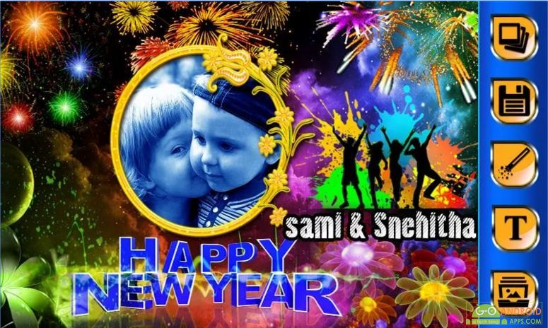 New Year Photo Frames App
