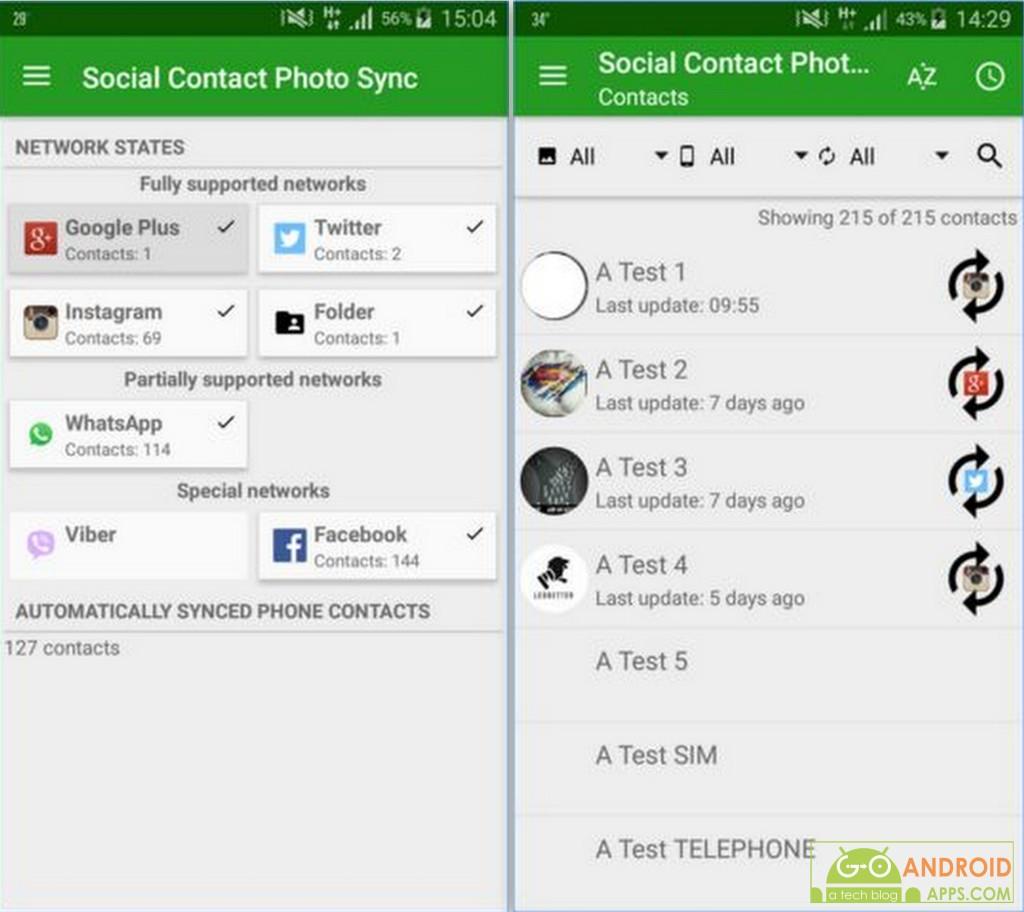 Social Contact Photo Sync App
