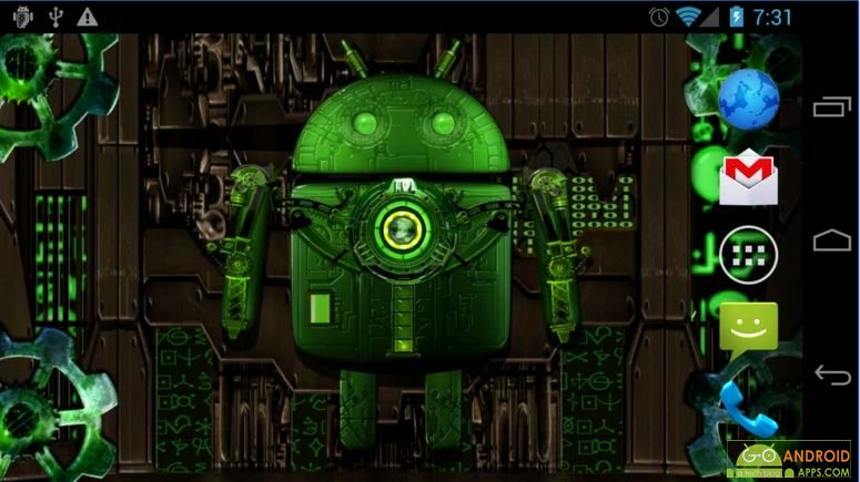 Steampunk Droid Free Wallpaper App