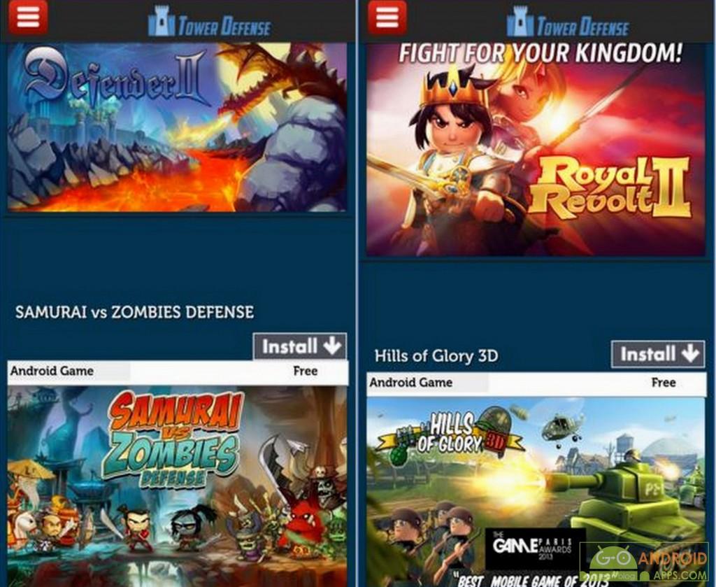 Tower Defense Games App