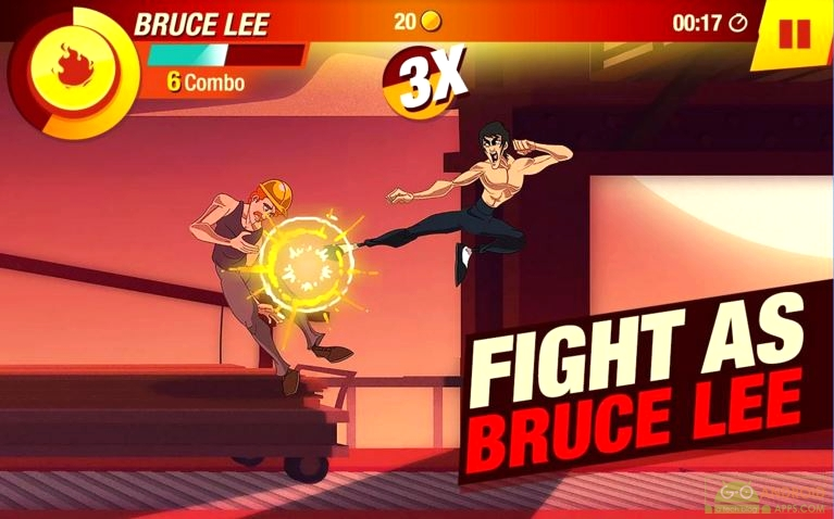 Bruce Lee Enter The Game for Android, Kung Fu Games for Android