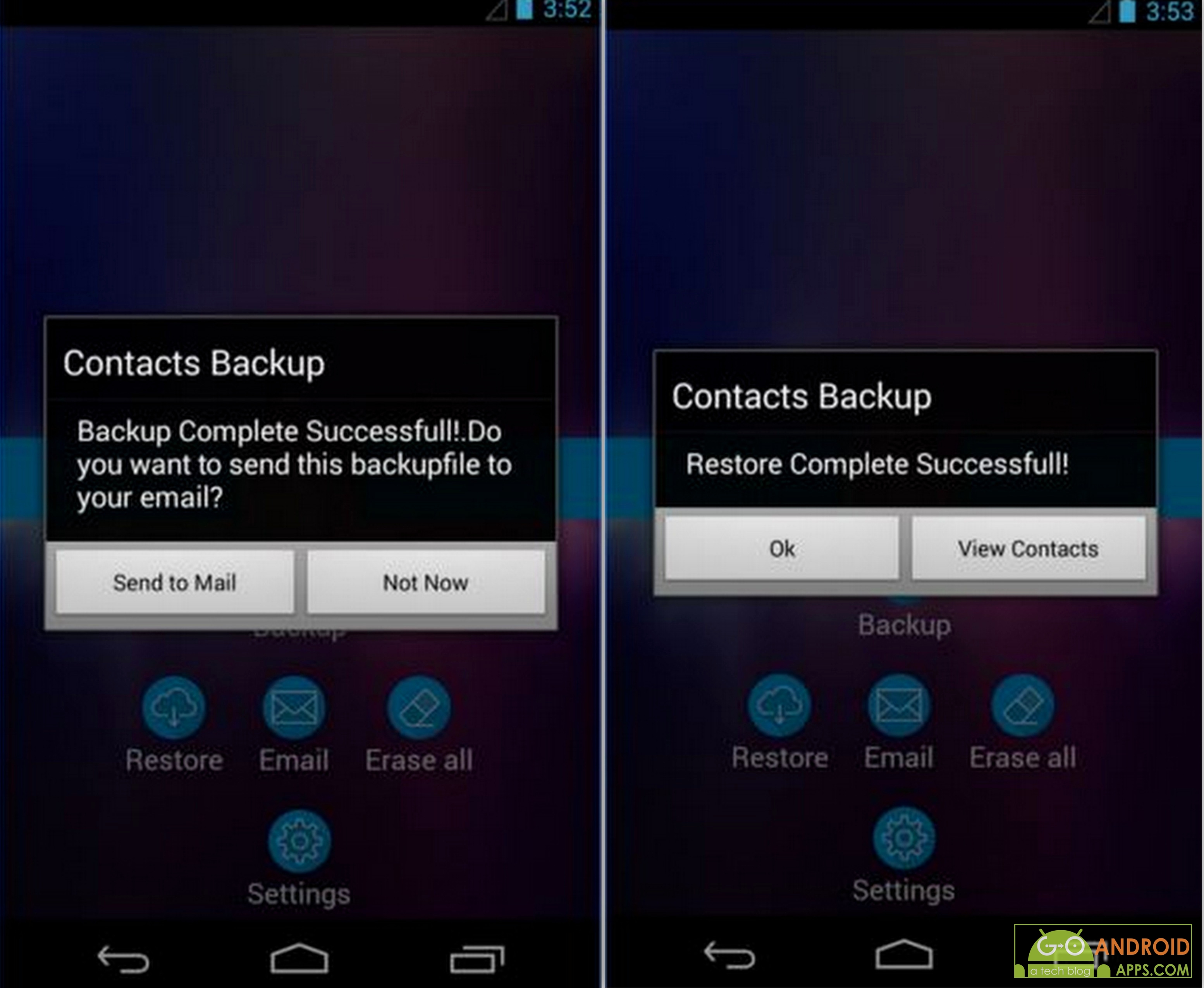 how to clear contacts android