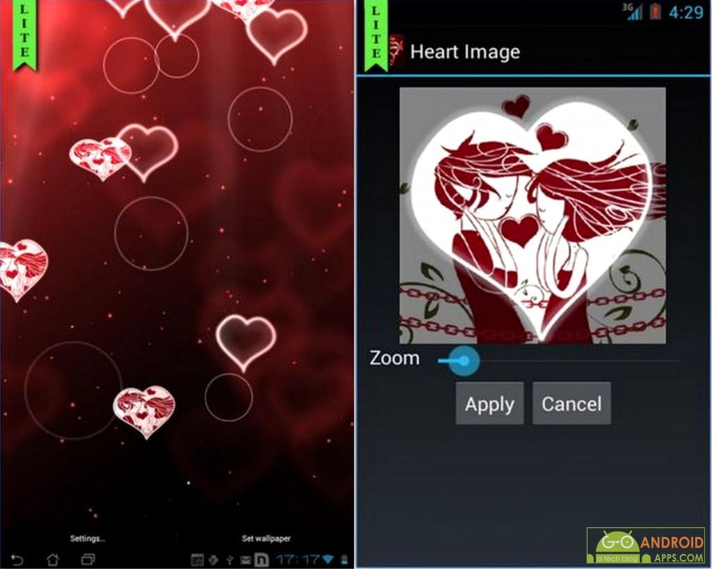 Heart Live Wallpaper lite App