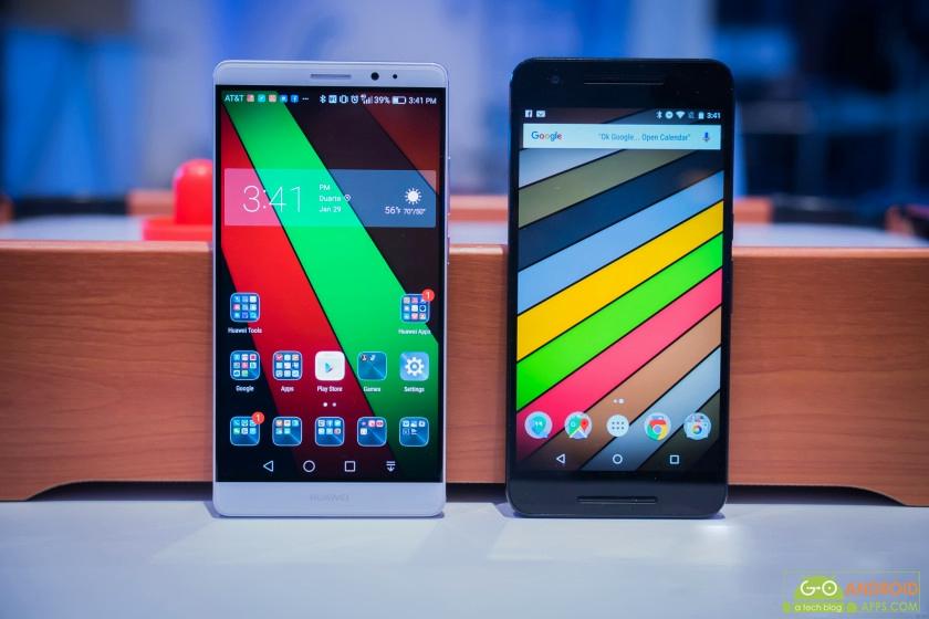 Huawei Mate 8 vs Nexus 6P Display