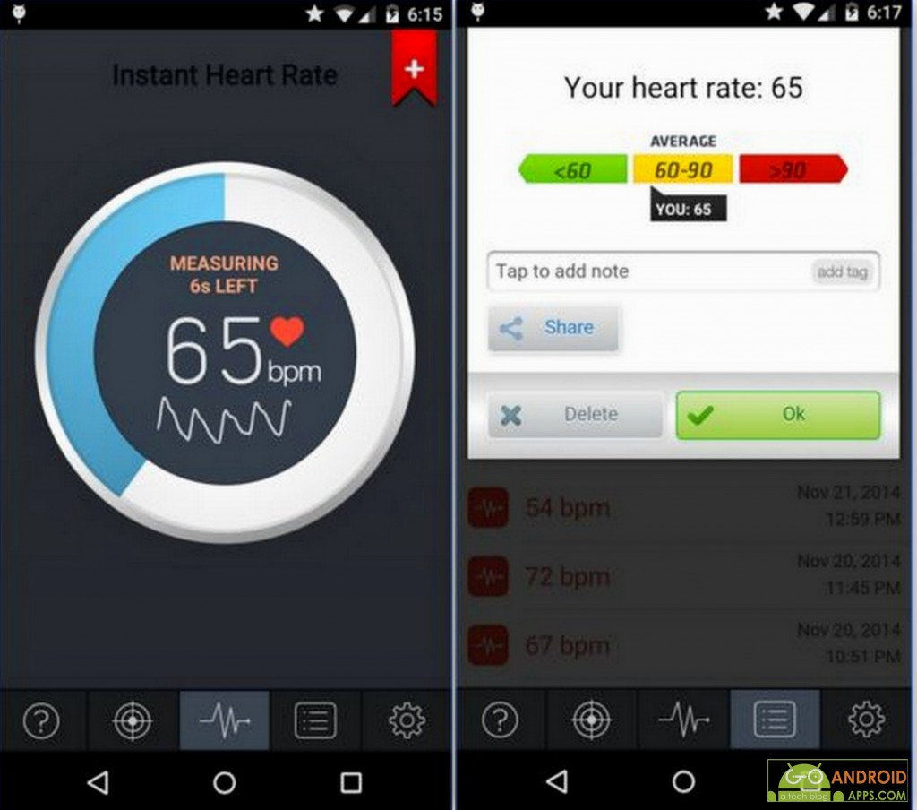 Instant Heart Rate App, Fitness and Health Tracking Apps for Android
