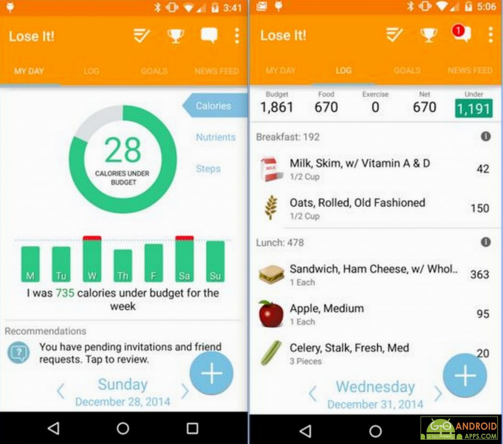 Lose It! App, Fitness and Health Tracking Apps for Android