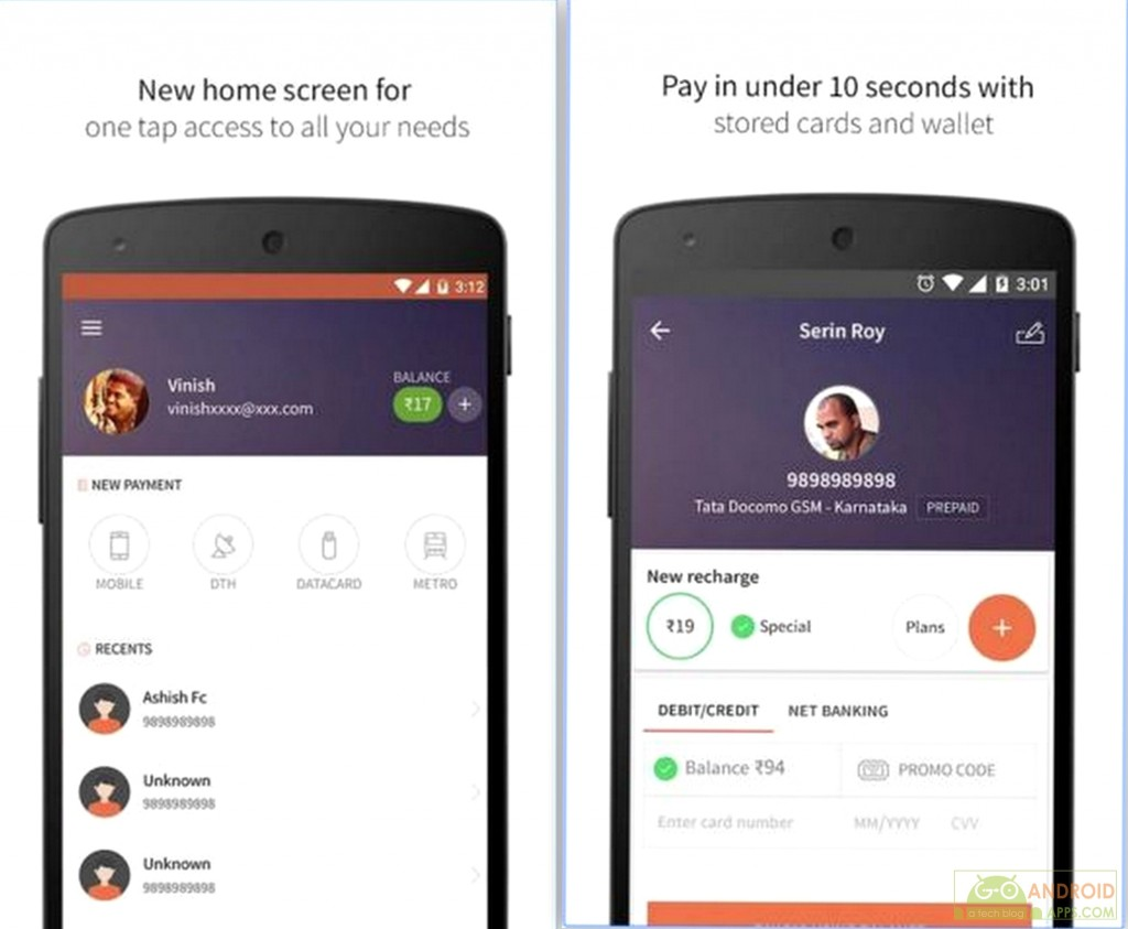 Mobile Recharge & Wallet App for Android