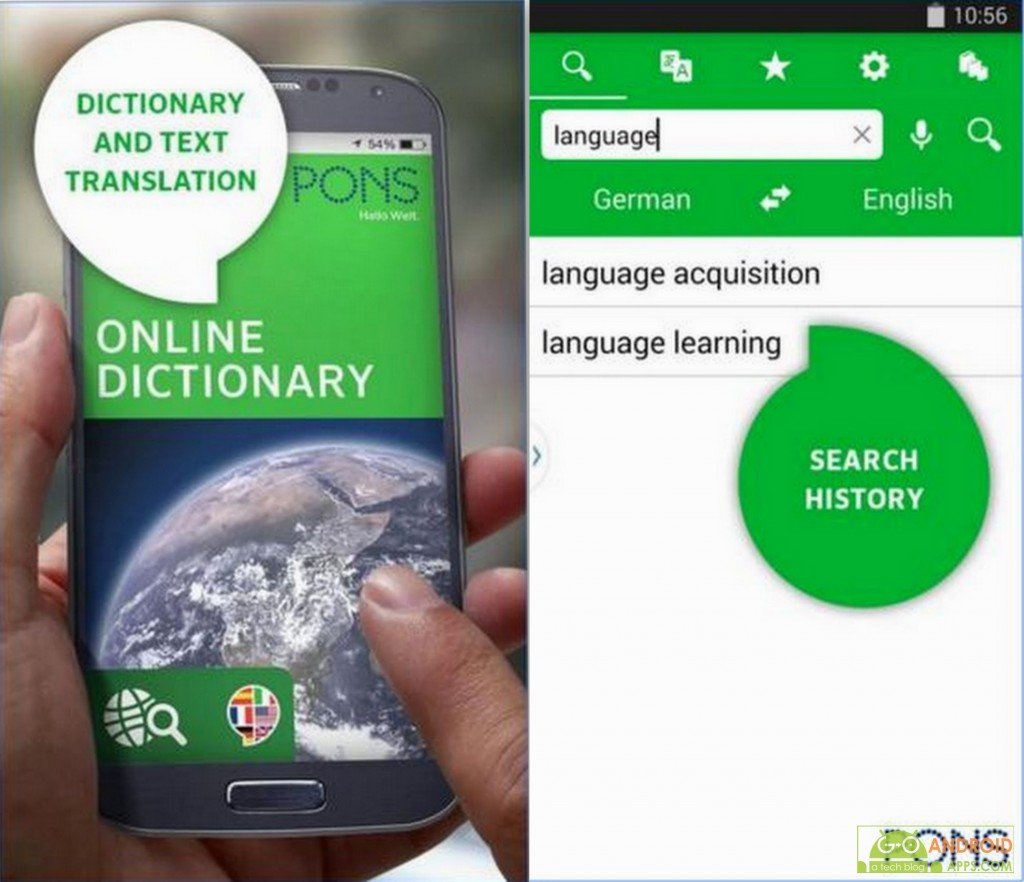 PONS Online Dictionary App
