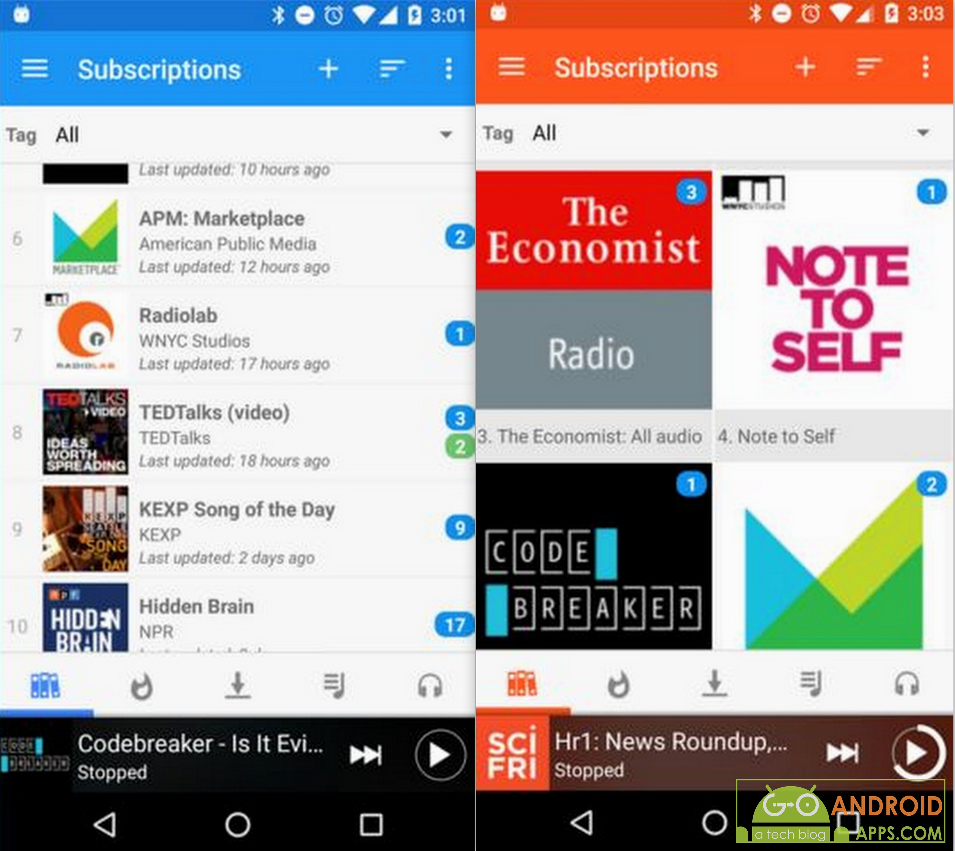 how to download podcast app on android