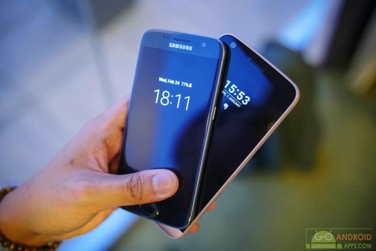 Samsung Galaxy S7 vs LG G5 Display