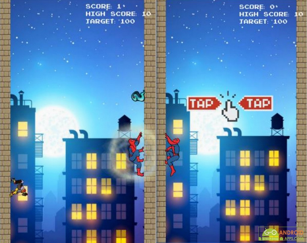Target of Spiderman Android Game