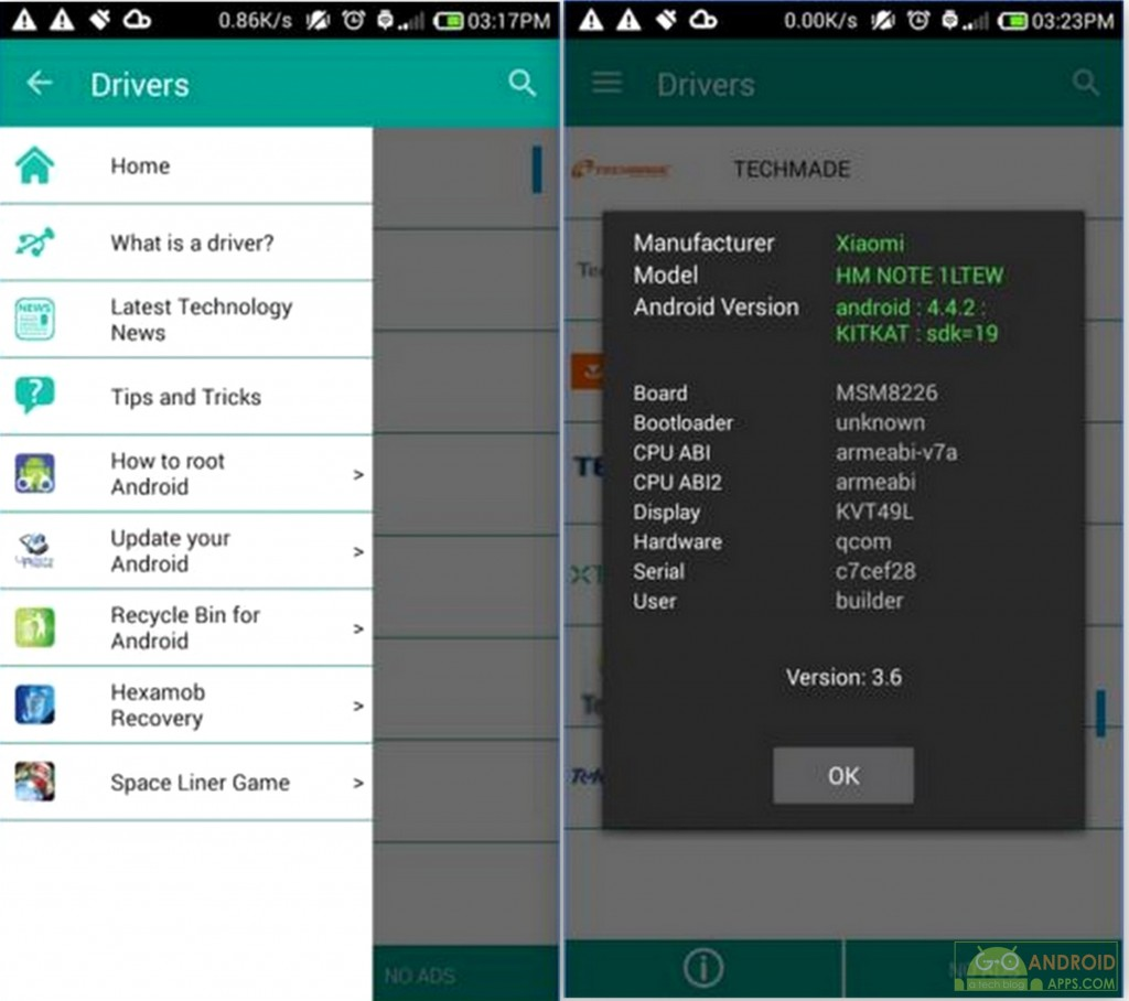 USB Drivers for Android App