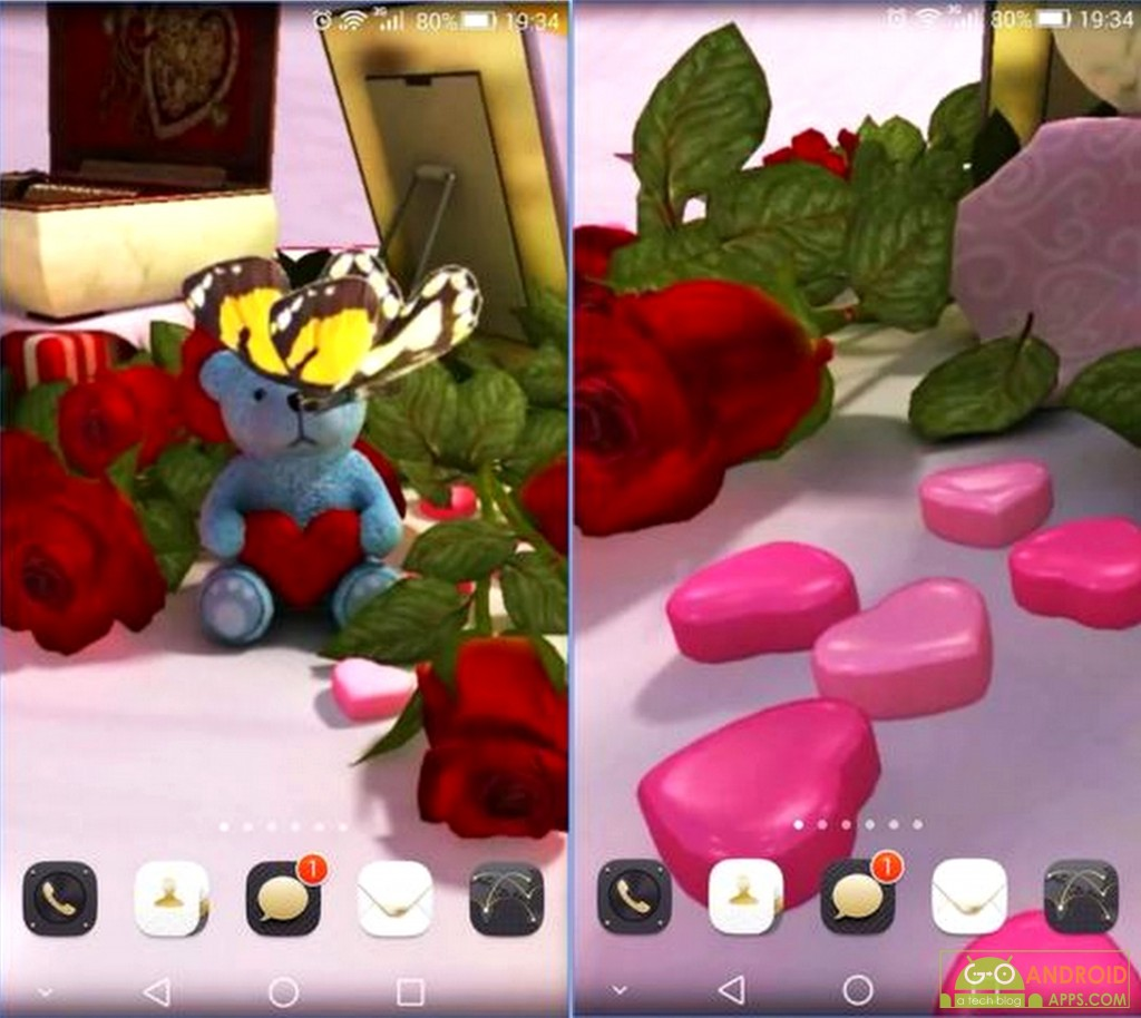 Valentine's Day 3D Wallpaper App
