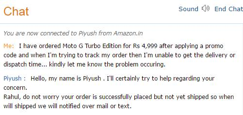Amazon.in Confirms All The Order Of Moto G Turbo For Rs 4,999 Will Be Delivered Soon