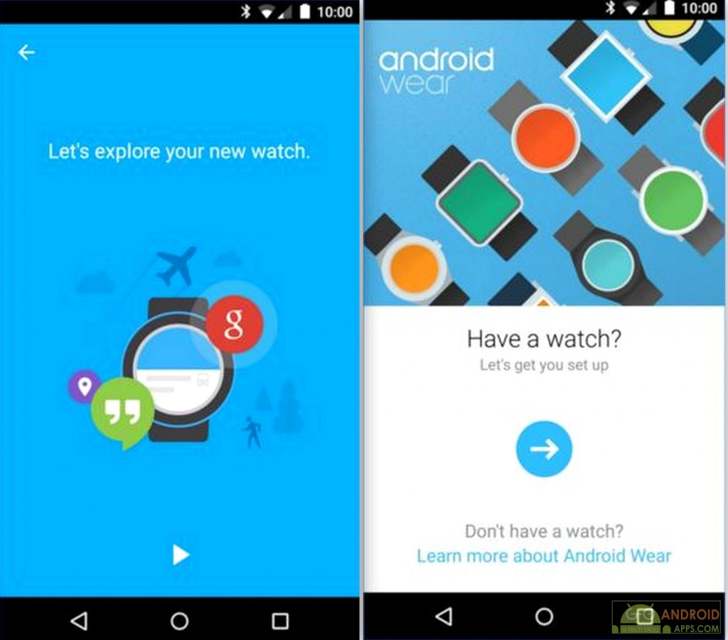 Writing apps for android wear