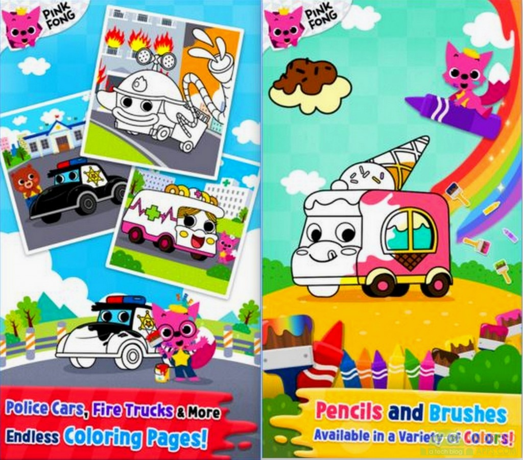 Cars Coloring Book PINKFONG App