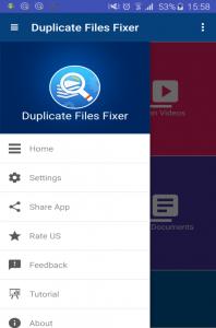 Duplicate Files Fixer App View