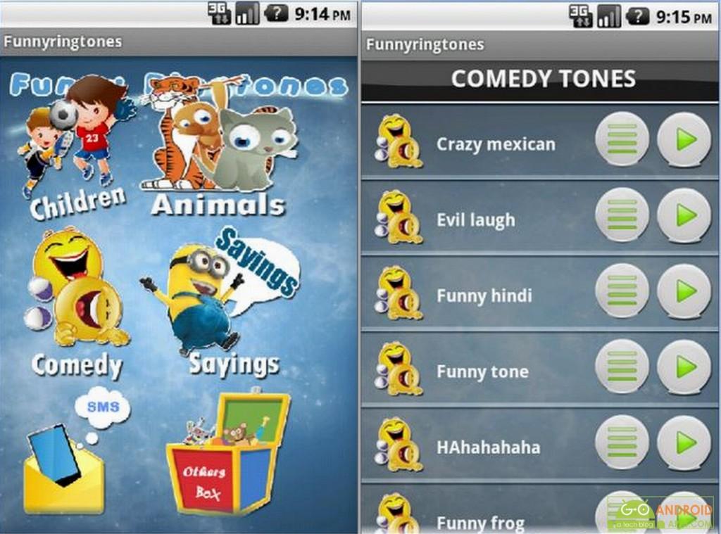 Funny Ringtones android app