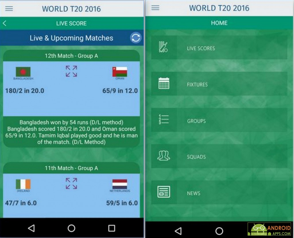 T20 World Cup 2016 Android App