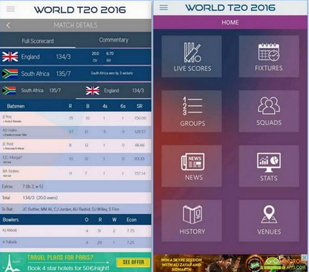 T20 World Cup 2016 App