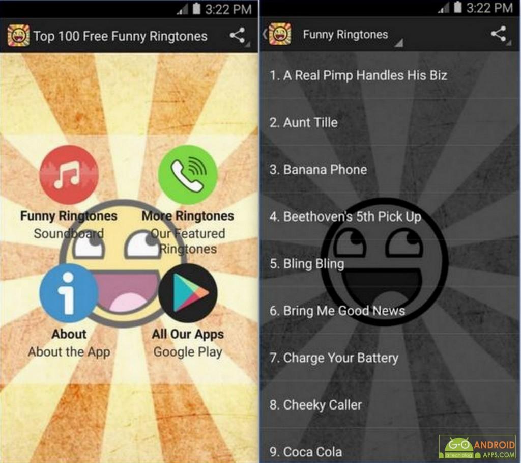 Top 100 Free Funny Ringtones App