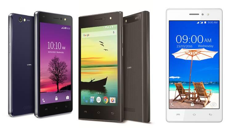 Lava A89, A76, A72 Smartphones
