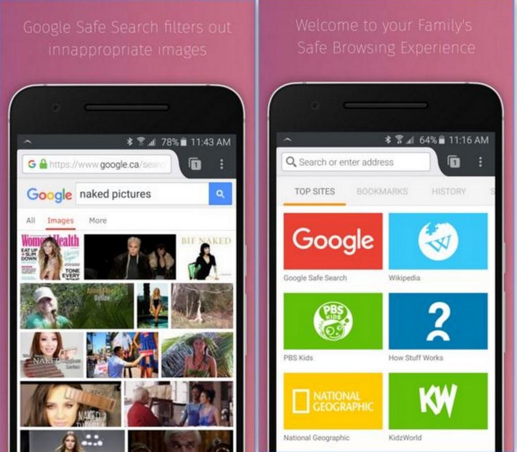 SPIN Safe Browser App